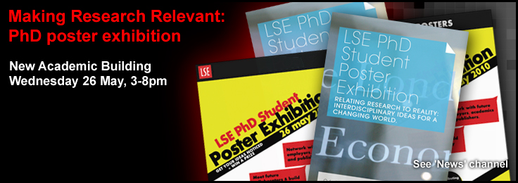 LSE PhD poster exhibition banner