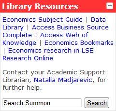 Economics Library block
