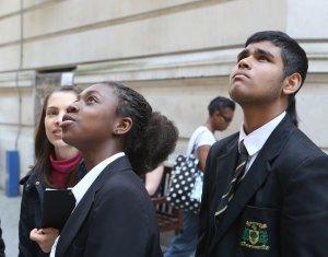 Schoolchildren at LSE