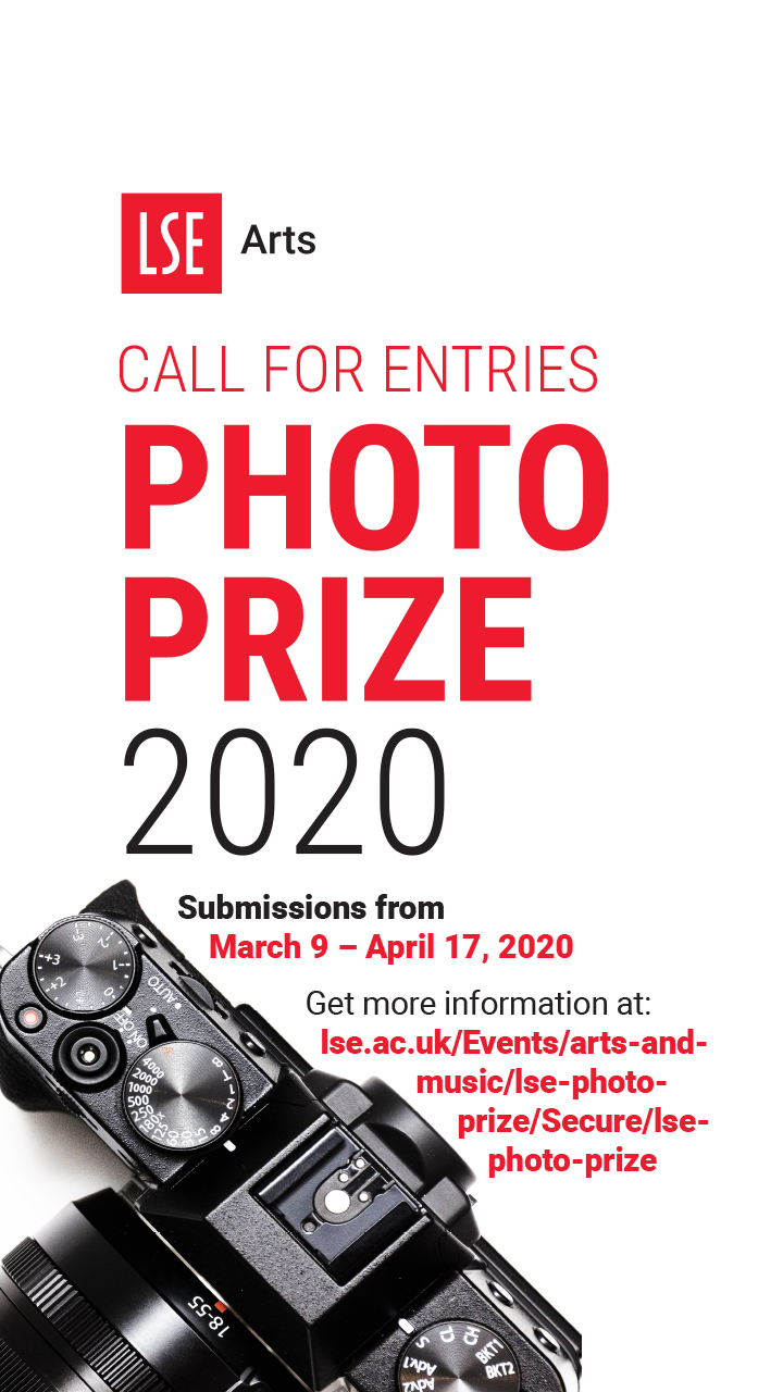 A poster inviting to submit entries to a photo prize.